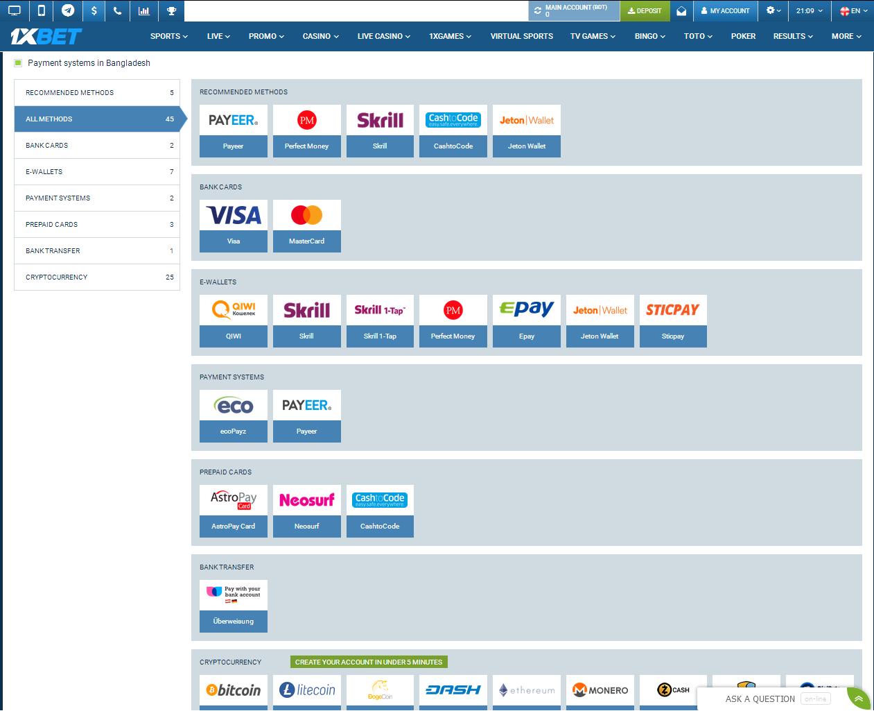 Payment Methods for Bangladesh
