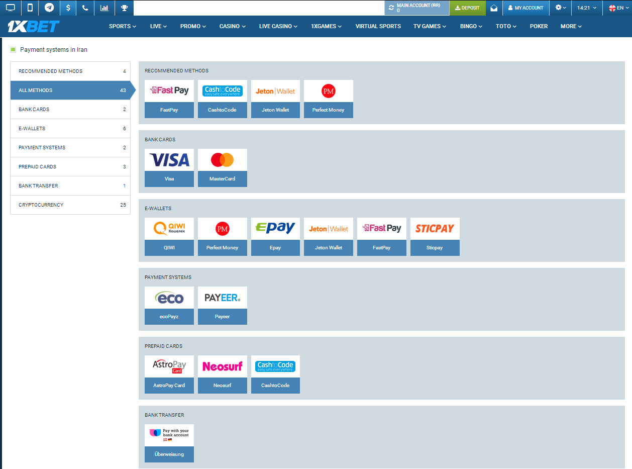 Payment Methods for Iran