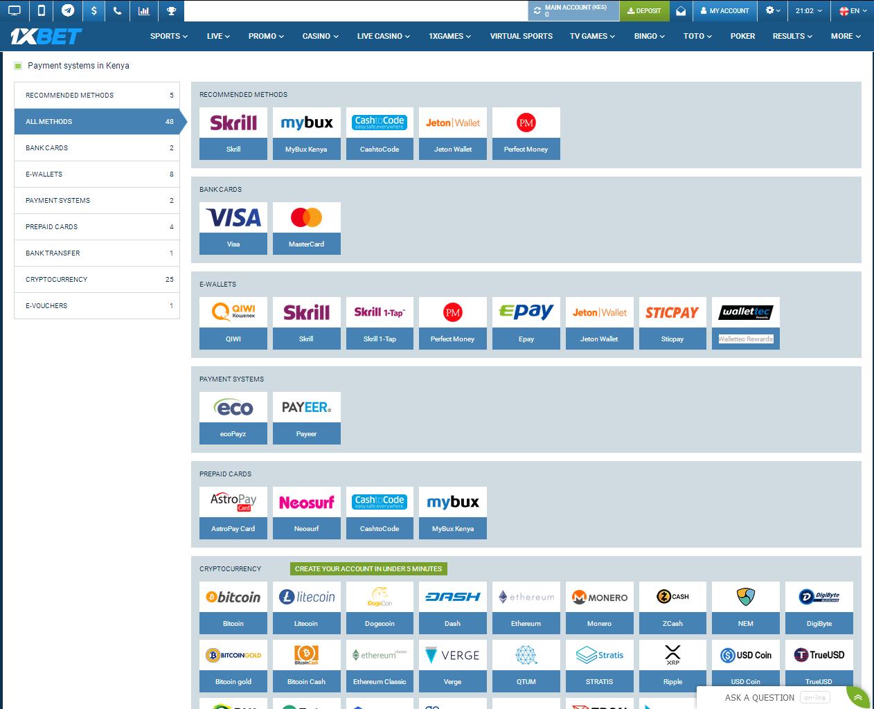 Payment Methods for Kenya