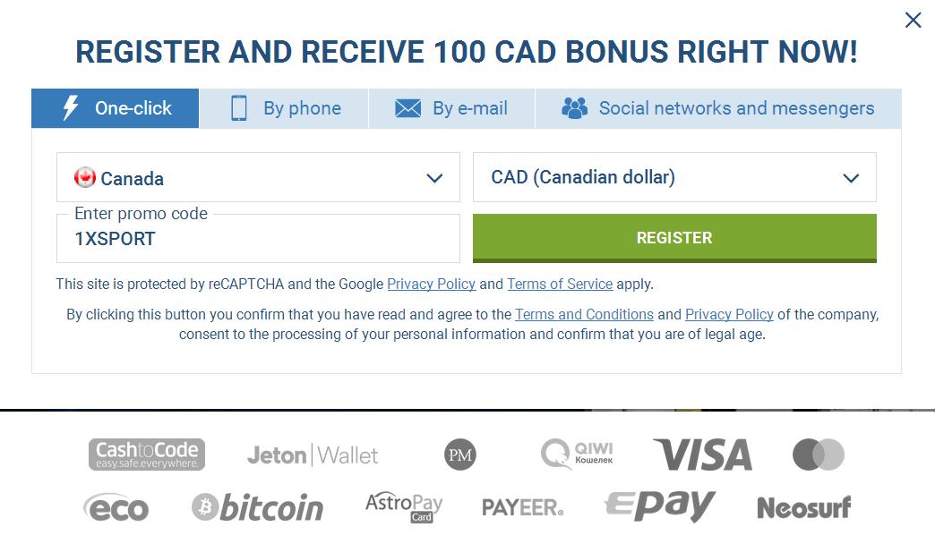 Canada Signup Account