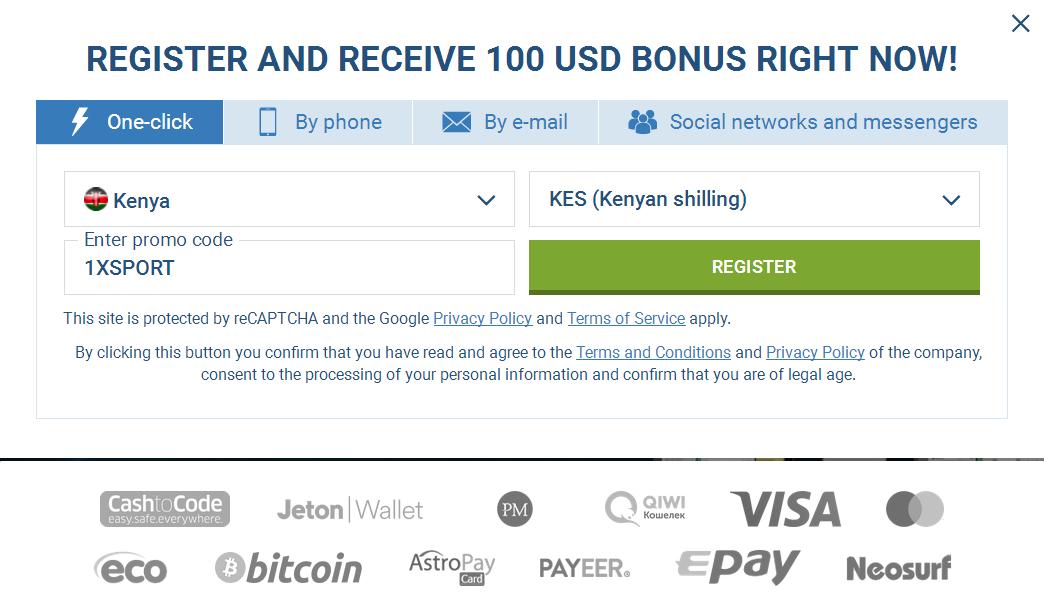 Kenya Signup Account