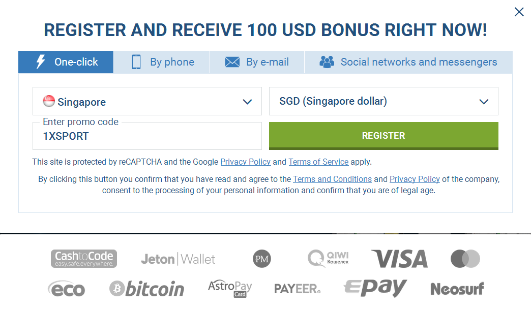 Singapore Signup Account